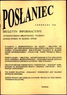 Posłaniec : biuletyn, 1998, nr 3