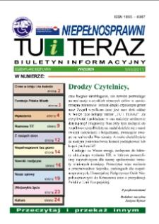 Niepełnosprawni Tu i Teraz : biuletyn informacyjny, 2011, nr 1 (40)