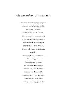 Relacja z wakacji (poemat żartobliwy)