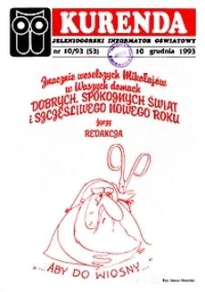 Kurenda : jeleniogórski informator oświatowy, 1993, nr 10 (53)