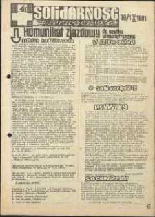 Solidarność Jeleniogórska : komunikat zjazdowy : 30[.09]/1.10.1981 r.