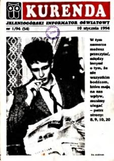 Kurenda : jeleniogórski informator oświatowy, 1994, nr 1 (54)