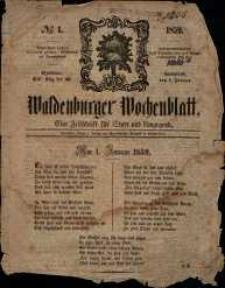 Waldenburger Wochenblatt, Jg. 5, 1859, nr 1
