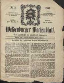 Waldenburger Wochenblatt, Jg. 5, 1859, nr 2