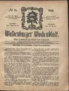 Waldenburger Wochenblatt, Jg. 5, 1859, nr 25