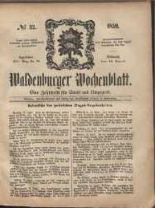Waldenburger Wochenblatt, Jg. 5, 1859, nr 32