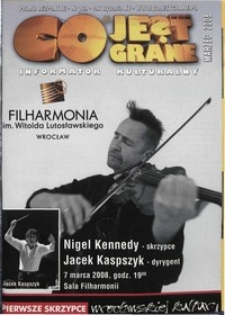Co Jest Grane : informator kulturalny, 2008, nr 169