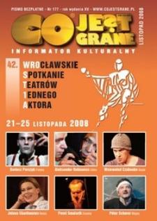 Co Jest Grane : informator kulturalny, 2008, nr 177