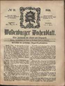Waldenburger Wochenblatt, Jg. 5, 1859, nr 37