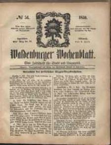Waldenburger Wochenblatt, Jg. 5, 1859, nr 54