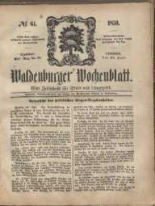 Waldenburger Wochenblatt, Jg. 5, 1859, nr 61