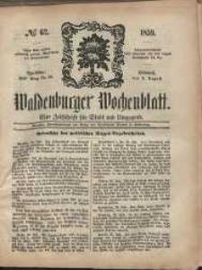 Waldenburger Wochenblatt, Jg. 5, 1859, nr 62