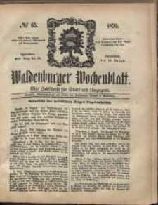 Waldenburger Wochenblatt, Jg. 5, 1859, nr 65