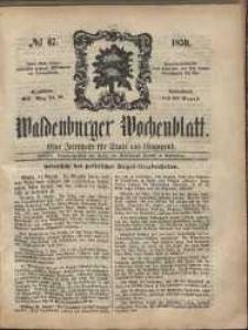 Waldenburger Wochenblatt, Jg. 5, 1859, nr 67