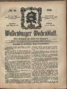 Waldenburger Wochenblatt, Jg. 5, 1859, nr 70