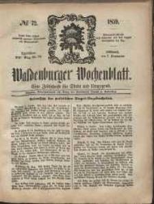 Waldenburger Wochenblatt, Jg. 5, 1859, nr 72