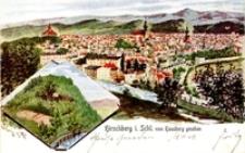 Jelenia Góra - panorama - widok ze Wzgórza Bolesława Krzywoustego [Dokument ikonograficzny]
