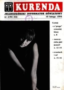 Kurenda : jeleniogórski informator oświatowy, 1994, nr 2 (55)