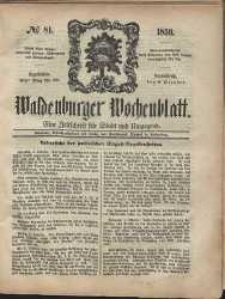 Waldenburger Wochenblatt, Jg. 5, 1859, nr 81