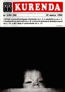 Kurenda : jeleniogórski informator oświatowy, 1994, nr 3 (56)