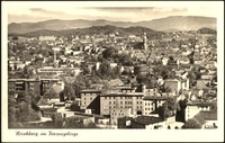 Jelenia Góra - panorama miasta - Karkonosze widok ogólny [Dokument ikonograficzny]