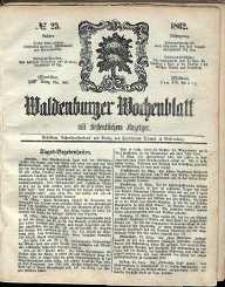 Waldenburger Wochenblatt, Jg. 8, 1862, nr 23