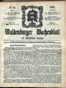 Waldenburger Wochenblatt, Jg. 8, 1862, nr 31
