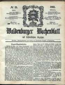Waldenburger Wochenblatt, Jg. 8, 1862, nr 33