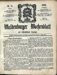 Waldenburger Wochenblatt, Jg. 8, 1862, nr 41
