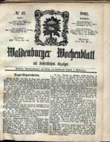 Waldenburger Wochenblatt, Jg. 8, 1862, nr 42