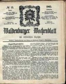 Waldenburger Wochenblatt, Jg. 8, 1862, nr 53