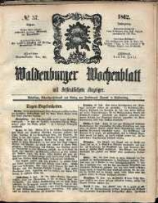 Waldenburger Wochenblatt, Jg. 8, 1862, nr 57