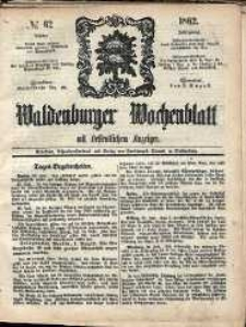 Waldenburger Wochenblatt, Jg. 8, 1862, nr 62