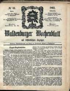 Waldenburger Wochenblatt, Jg. 8, 1862, nr 64