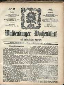 Waldenburger Wochenblatt, Jg. 8, 1862, nr 67