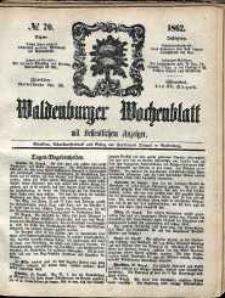 Waldenburger Wochenblatt, Jg. 8, 1862, nr 70