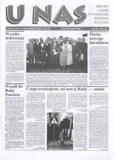 U Nas : miesięcznik jaworzyński, 1998, nr 54