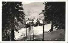 Karkonosze - schronisko Pod Łabskim Szczytem / Alte schlesische Baude, widok zimowy [Dokument ikonograficzny]