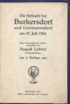 Die Schlacht bei Burkersdorf und Leutmannsdorf am 21. Juli 1762