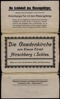 Die Gnadenkirche zum Kreuze Christi Hirschberg i. Schles. : album mit 10 der interessantesten Bilder nebst Beschreibung [Dokument ikonograficzny]