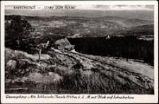 Karkonosze - schronisko Pod Łabskim Szczytem z widokiem na Szklarską Porębę [Dokument ikonograficzny]