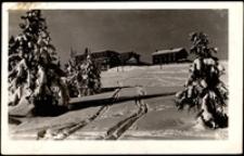 Karkonosze - zimowy widok na Schronisko Peterbaude [Dokument ikonograficzny]