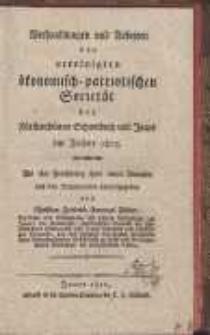 Verhandlungen und Arbeiten der vereinigten ökonomisch-patriotischen Societät der Fürstenthümer Schweidnitz und Jauer im Jahre 1812