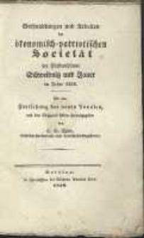Verhandlungen und Arbeiten der vereinigten ökonomisch-patriotischen Societät der Fürstenthümer Schweidnitz und Jauer im Jahre 1838