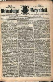 Waldenburger Wochenblatt, Jg. 27, 1881, nr 20