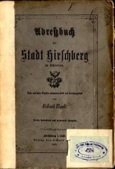 Adressbuch der Stadt Hirschberg in Schlesien