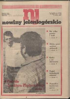 Nowiny Jeleniogórskie : tygodnik PZPR, R. 28, 1985, nr 35 (1395)