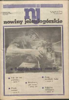 Nowiny Jeleniogórskie : tygodnik PZPR, R. 28, 1985, nr 46 (1406)