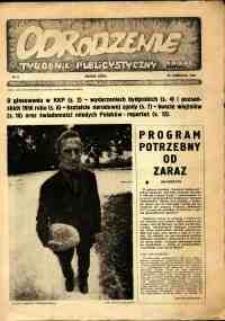 """Odrodzenie : tygodnik publicystyczny NSZZ """"Solidarność"""", 1981, nr 0"""
