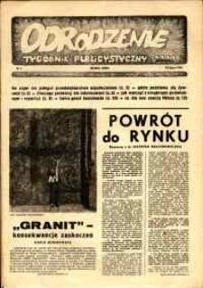 """Odrodzenie : tygodnik publicystyczny NSZZ """"Solidarność"""", 1981, nr 3"""